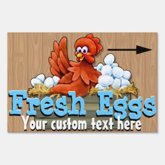 Fresh Eggs for sale. Farm. Organic.  Customizable Sign