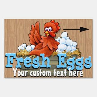 Fresh Eggs for sale Farm Organic Customizable Lawn Sign
