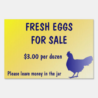 Fresh Eggs for Sale Farm Yard Sign Customizable!
