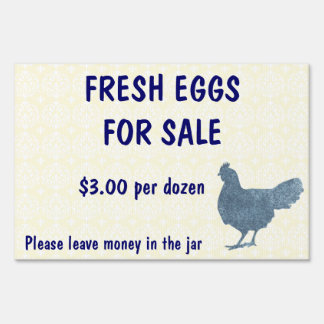Fresh Eggs for Sale Farm Yard Sign Customize It