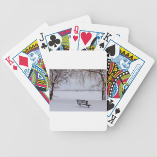 Fresh Fallen Snow Bicycle Playing Cards