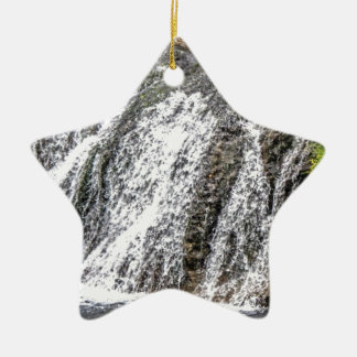fresh falls in the forest ceramic ornament
