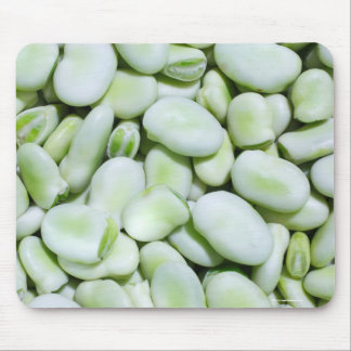 Fresh fava beans mouse pad