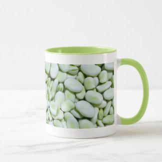 Fresh fava beans mug