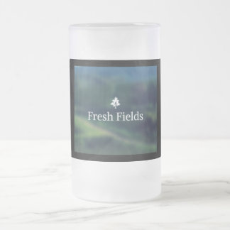 fresh fields frosted glass beer mug