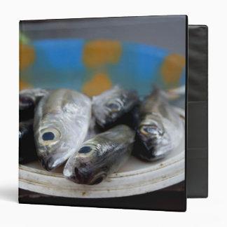 Fresh fish on fish market Mercado de Peixe), 3 Ring Binder