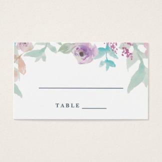 Fresh Floral Watercolor Wedding Escort Card