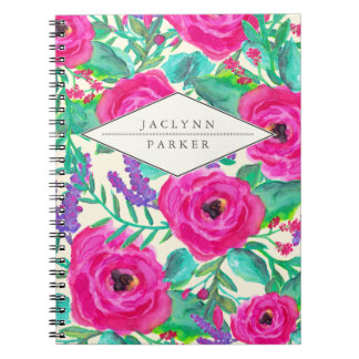 Fresh Florals Personalized Notebook