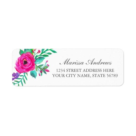 Fresh Florals Return Address Label