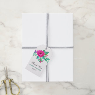 Fresh Florals Wedding Favor Gift Tags