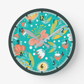 Fresh Flowers Clock