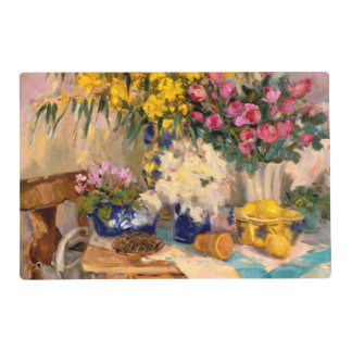 Fresh Flowers II Laminated Placemat