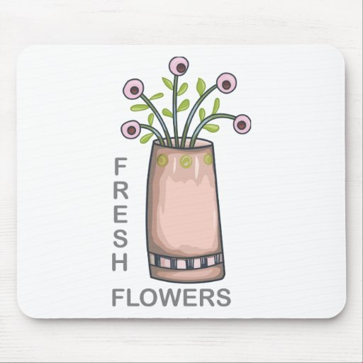 fresh flowers mousepads