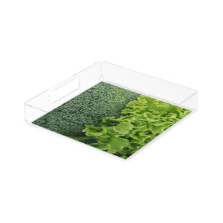 Fresh Food Lettuce and Broccoli Acrylic Tray