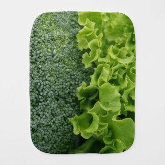 Fresh Food Lettuce and Broccoli Baby Burp Cloths