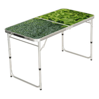 Fresh Food Lettuce and Broccoli Beer Pong Table