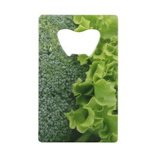 Fresh Food Lettuce and Broccoli Credit Card Bottle Opener