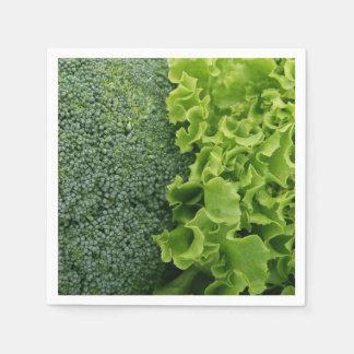 Fresh Food Lettuce and Broccoli Disposable Napkin