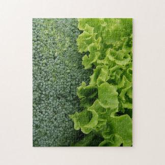 Fresh Food Lettuce and Broccoli Jigsaw Puzzle