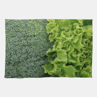 Fresh Food Lettuce and Broccoli Kitchen Towel