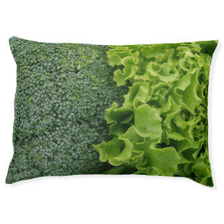 Fresh Food Lettuce and Broccoli Large Dog Bed