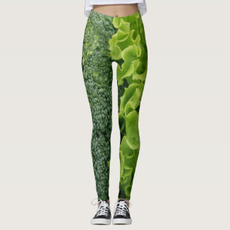 Fresh Food Lettuce and Broccoli Leggings