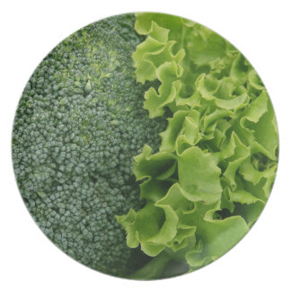 Fresh Food Lettuce and Broccoli Party Plate