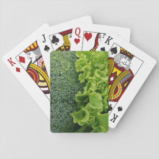 Fresh Food Lettuce and Broccoli Playing Cards