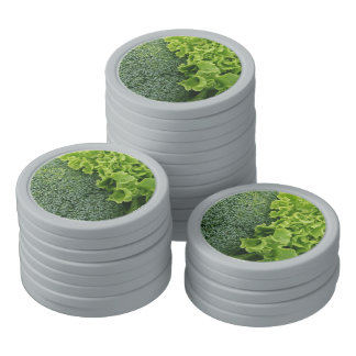 Fresh Food Lettuce and Broccoli Poker Chips