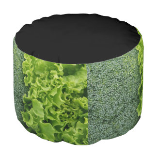 Fresh Food Lettuce and Broccoli Pouf