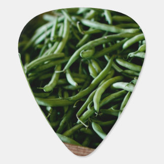 Fresh French green beans after harvest Guitar Pick