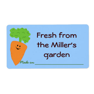Fresh from the Garden Produce Label Shipping Label
