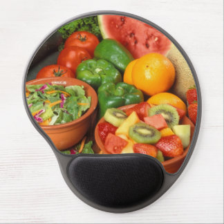 Fresh fruit and vegetables gel mouse pads