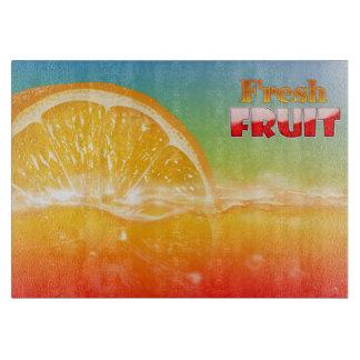 Fresh Fruit designs Glass Cutting Board