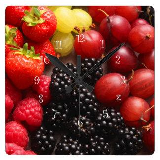 Fresh Fruit Kitchen Wall Clocks