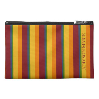 Fresh Fruit Palette Stripe Personalized Travel Accessory Bag