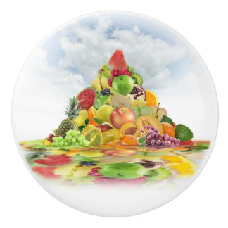Fresh Fruit Pyramid Ceramic Knob