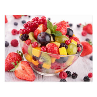 Fresh fruit salad postcard
