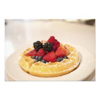 Fresh fruit waffle photo