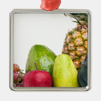 Fresh Fruits and Vegetables Layout Metal Ornament