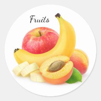 Fresh fruits classic round sticker