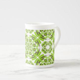 Fresh geometric pattern tea cup