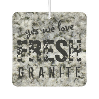 Fresh Granite Rock Texture Custom Text Air Freshener