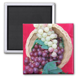 Fresh Grapes Square Magnet