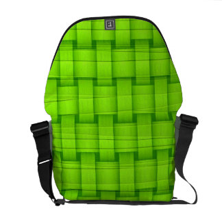 Fresh green art graphic design messenger bags