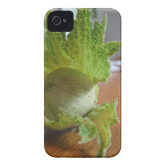 Fresh green hazelnuts on a wooden table Case-Mate iPhone 4 case