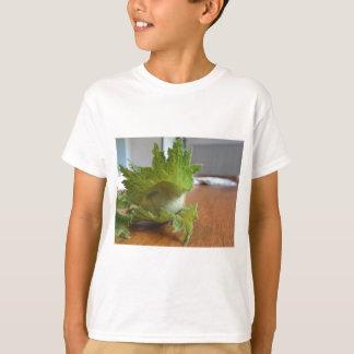 Fresh green hazelnuts on a wooden table T-Shirt