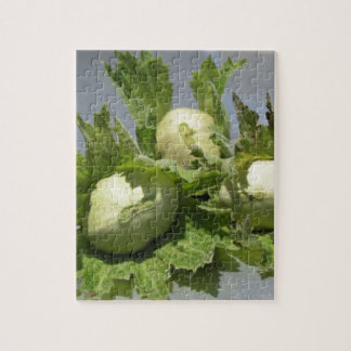 Fresh green hazelnuts on glittering background jigsaw puzzle