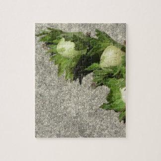 Fresh green hazelnuts on the floor jigsaw puzzle