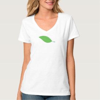 Fresh Green Leaf V-Neck Tee